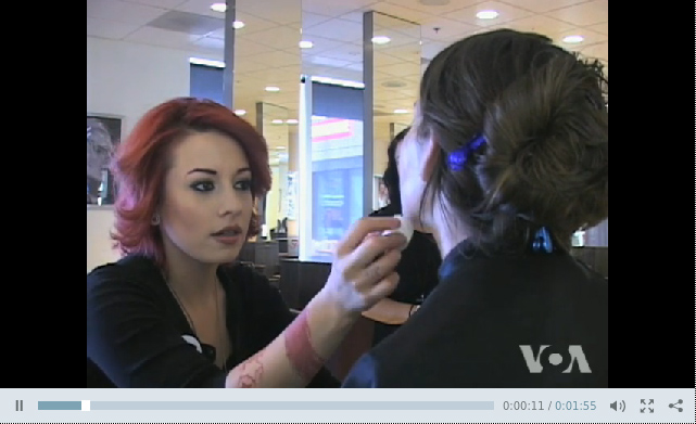 Bellus Academy was featured on Voice of America doing Military Makeovers!